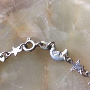 Prime Jewelry Design Jewelry - Sterling Silver Moon & Stars Bracelet Marked 925